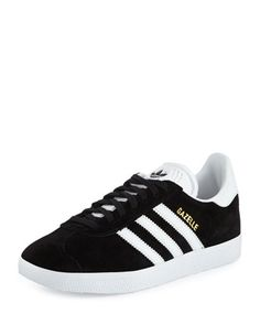 Gazelle+Original+Suede+Sneaker,+Black/White+by+Adidas