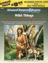 Wilderness Survival Guide w/Wild Things  Rare extra module that was packed with some WSGs.