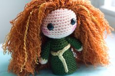 Merida Brave Amigurumi Plush Doll PATTERN by PaperCuttlefish - For the love of crochet, could she be any cuter?!?