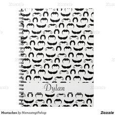 Mustaches Spiral Notebooks