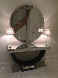 Our gorgeous Quartz Set paired with elegant crystal lighting and a sleek marble floor. Paint Color Palettes, Paint Colors, Marble Floor, Room Interior, Art Deco, Quartz, Entry Ways, Flooring, Mirror