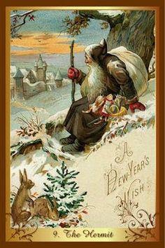 The Hermit - Christmas Tarot by Corrine Kenner