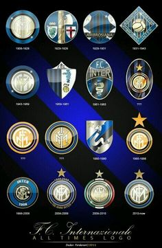 Estos son los escudos del Inter de Milan durante toda su Historia