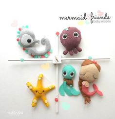 BABY CRIB MOBILE Mermaid and Friends Baby Mobile by by mukibaba