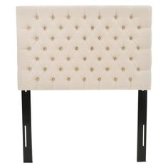 Alistair Kids Upholstered Headboard - Twin - Beige - Christopher Knight Home