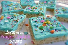 Lofthouse Sugar Cookie Bars SOO easy and SOOOOO good. Tip use a wet spatula to push dough into corners.