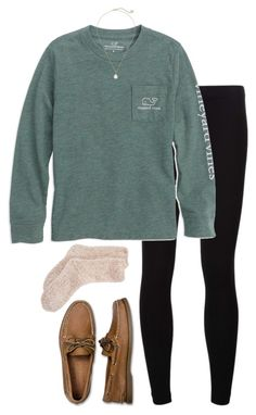 """lazy dayyy"" by tabooty ❤ liked on Polyvore featuring James Perse, Sperry Top-Sider, Kendra Scott and Charter Club"