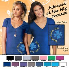 Sorority Attached at the Hip Package #Greek #Sorority #Clothing #BigLil #Big #Little #PuzzlePieces
