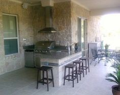 Outdoor Living Area / Kitchen contemporary patio.