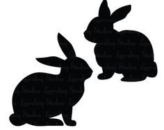 18 Bunny Silhouette Clip Art Free Cliparts That You Can Download To