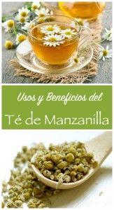 beneficios y usos del te de manzanilla - remedios caseros by Alicia Borchardt