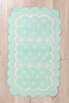 Plum & Bow Scalloped Eyelet Rug  (For bedroom maybe)