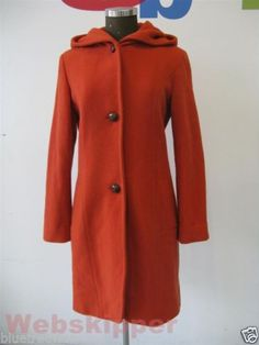 Parka cappotto con cappuccio color zucca tg 42 Made in Italy pumpkin hoodie coat | eBay