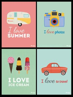 FREE Illustrations summer by Maritta Things
