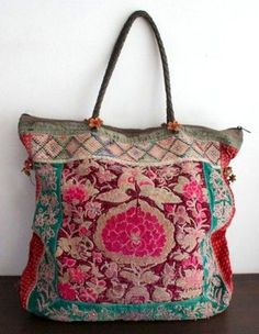 Love Love this carpet bag.A beautiful embroidered bagi am lovestruck - want this boho bag!Love the colors and boho feel Roiii Womens Celeb Sexy Boho Long Maxi Dress Ladies Summer Beach Party Sun Dress % SpandexSleeveless,Round Neck Cut Out,Mopping My Bags, Purses And Bags, Fashion Bags, Fashion Accessories, Carpet Bag, Boho Bags, Boho Gypsy, Bohemian Bag, Handmade Bags