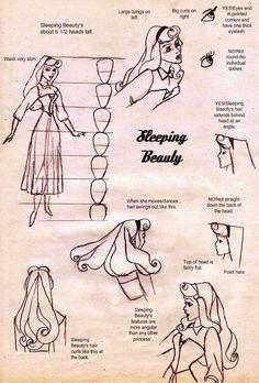 Sleeping beauty tutorial by on DeviantArt Sleeping Beauty Characters, Sleeping Beauty Art, Sleeping Beauty Princess, Cartoon Sketches, Disney Sketches, Disney Drawings, Cartoon Art, Disney Art Style, Disney Concept Art