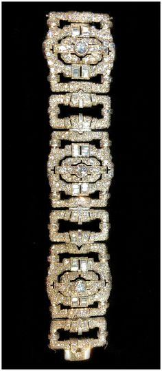 64303cbce7 A magnificent antique Art Deco diamond bracelet. Spotted at JS Jewels LTD  and Keith MacRae