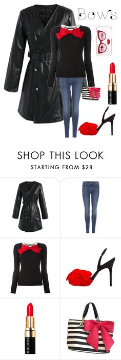 """Untitled #3172"" by kotnourka ❤ liked on Polyvore featuring Chicwish, 7 For All Mankind, Boutique Moschino, Bruno Frisoni, Bobbi Brown Cosmetics, Betsey Johnson and Kate Spade"