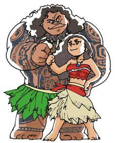 Moana and Maui's fist-bump