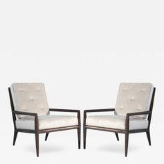Pair of T.H. Robsjohn-Gibbings for Widdicomb Lounge Chairs by T.H.  Robsjohn-Gibbings