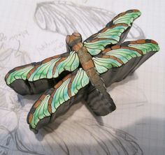 My dragonfly cane - inspiration and simple how to