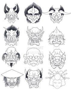 The 13 Demons by JoshDixArt on @DeviantArt