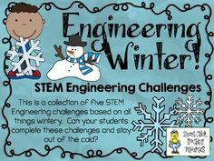 Get ready to engineer all things Winter (snowmen, snowflakes, and sleds)!  Most elementary teachers are more comfortable and knowledgeable with theme topics, so I have decided to create STEM challenge packs based on specific ones, like Winter!  This engineering challenge activity pack is one of many that I have created to use in my classroom!  $
