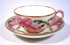 Minton Pink Ribbon Cup & Saucer