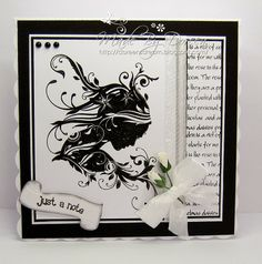 Hello to you all,my card share today uses the gorgeous Indigo Blu stamp Ella Bella and a script stamp from Oak House Studios. Birthday Cards For Women, Handmade Birthday Cards, Image Stamp, Hand Made Greeting Cards, Atc Cards, Beautiful Handmade Cards, Hobbies And Crafts, I Card, Cardmaking
