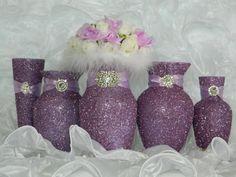 Weddings, Wedding Decor, Wedding Reception, Bridal Shower, Baby Shower, Lilac, Glitter, Wedding Centerpieces, Shabby Chic Decor, Lavender
