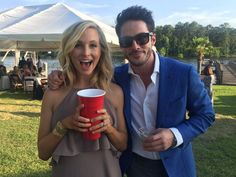 Michael Trevino and Candice King
