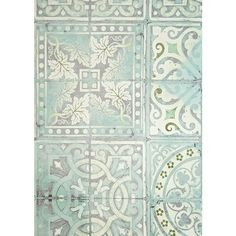 Louise Body Paper Tiles Wallpaper ($29) ❤ liked on Polyvore featuring home, home decor, wallpaper, backgrounds, tile, wall, pattern wallpaper, green and white wallpaper, blue green wallpaper and aqua home decor