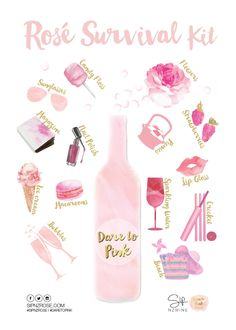 The definitive Rosé survival kit produced by the the team at SipNZwine for the inaugural NZ Rosé day, 5 Feb 2016! Join us and celebrate NZ Rosé.