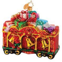 Radko Choo Choo Chimes B & O Railroad Train Car Christmas Ornament Radko Ornaments, Christmas Ornaments, Train Ornament, Christopher Radko, White Christmas, Train Car, Holiday Decor, Sweet, Ornaments