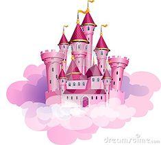 Vector pink princess magic castle.                                                                                                                                                                                 More