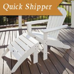 Trex Outdoor Furniture Yacht Club Shellback Classic White Patio Adirondack Chair - The Home Depot