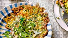 This+heavenly+pancake+is+a+classic+Black+Sea+breakfast.+Fresh+herbs+and+spring+greens+are+finely+chopped+and+mixed+into+a+lovely+light+batter…