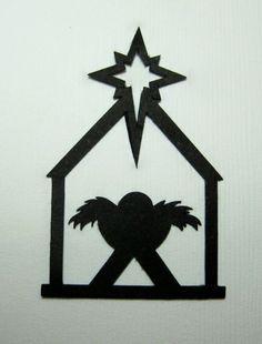Nativity Scene Silhouette x 8 - Christmas - Manger | eBay
