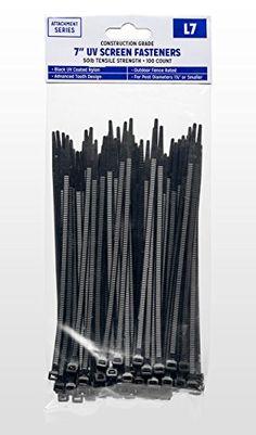 Outdoor UV Zip Tie Fasteners (7 Inch, Black)