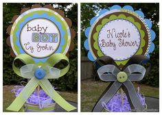 Baby Shower Centerpiece by SweetMomentsBoutique on Etsy, $12.00