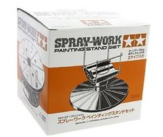 Tamiya-Spray-Work-Painting-Stand-Carousel-Set-Free-Shipping-New-Japan-Import