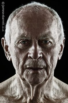 John (revisited), old guy, elderly man, wrinckles, lines of life, powerful face, intense eyes, shadow and light, portrait, b/w