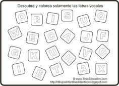ejercicios para identificar las vocales - Buscar con Google