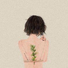 Boy Art, Art Girl, Art Sketches, Art Drawings, Cute Love Pictures, Only Girl, Green Backgrounds, Cartoon Art, Line Art