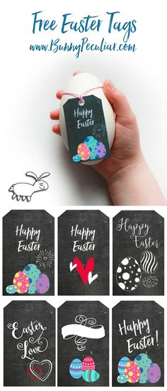 'Easter Chalkboard Gift Tags' These printables are a great way to give your loved ones a little gift this Easter. These contemporary gift tags printables come in two different sizes and are FREE to download.