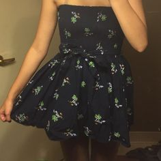 Fit and flare dress Very short but cute. Hollister Dresses