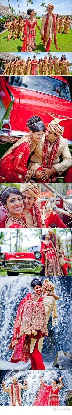 Preeya & Pramod. Traditional Indian Outfit. Portraits. Maui, Hawaii.