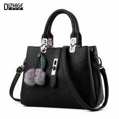 3fd6d825f2 DIZHIGE Brand Fashion Fur Women Bag Handbags Women Famous Designer Women  Leather Handbags Luxury Ladies Hand Bags Shoulder Sac     This is an  AliExpress ...