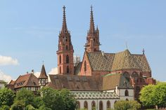 Basel Minster, Basel: normally picture from the front, the Munster here from the river - Check out Tripadvisor members' candid photos and videos of Basel Minster River Pictures, Online Tickets, Basel, Best Hotels, Barcelona Cathedral, Switzerland, Trip Advisor, Attraction, Vacation