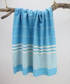 Look what I found on #zulily! 40'' x 71'' Turquoise Peshtemal Towel #zulilyfinds